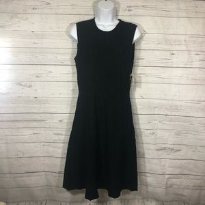 Anne Klein Womens 1281 Black Sleeveless Dress S